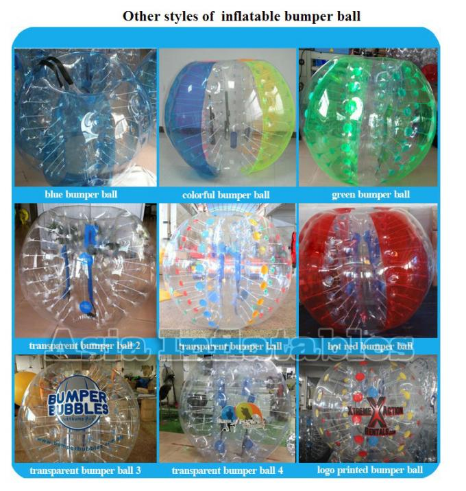 Crazy Inflatable Body Bumper Loopy Ball For Sports Games