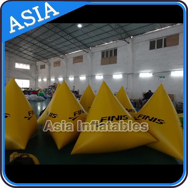 Orange Color Commercial Use  Inflatable Buoy For Water Park Paintball Bunker