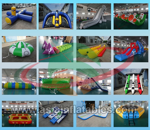 Party Inflatable Floating Island For Beach Vacation , Inflatable Lounge For Lake