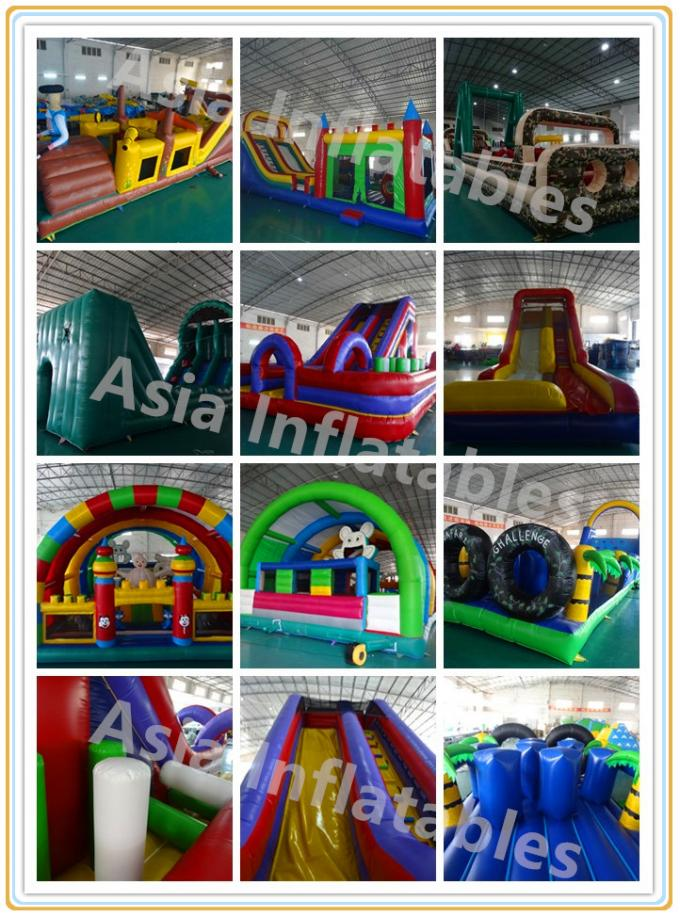 Race Wipeout Course Inflatable Tunnel , Rental 5k Inflatable Obstacle Course