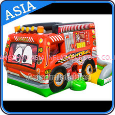 Trung Quốc Outdoor Inflatable Cartoon Bus Jumping Castle For Children Party Games nhà máy sản xuất