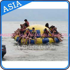 Trung Quốc Hot Welding Yellow 12 Person Inflatable Disco Boat For Towable Water Games nhà máy sản xuất