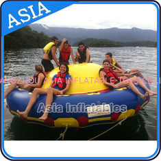 Trung Quốc Sealed 3m Inflatable Floating Spin Water Disco Boat For 8 Person Blue / Yellow nhà máy sản xuất