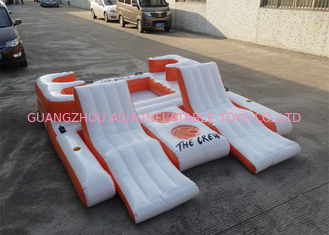 Trung Quốc Orange 0.9mm PVC Tarpaulin Inflatable Floating Island For Water Sports nhà máy sản xuất