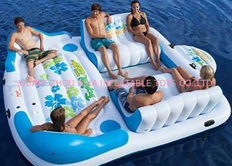 Trung Quốc Large Inflatable Floating Island , Inflatable Lounge Water Floating Games For Leisure nhà máy sản xuất