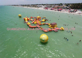 Trung Quốc Mayan Beach Inflatabled Aqua Park / Floating Obstacle Course For Rental nhà máy sản xuất