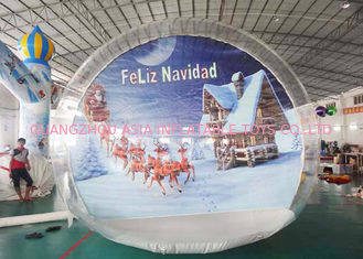 OEM Inflatable Snow Globe with Tunnel for Promotion