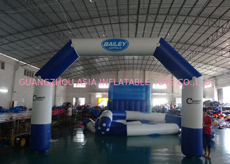 Trung Quốc Custom Welding White Blue Inflatable Entrance Arch With Logo Print For Promotion nhà máy sản xuất
