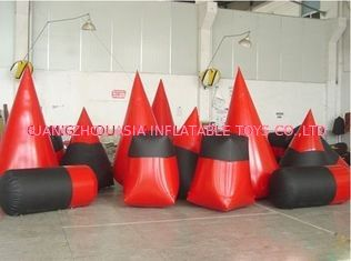 Trung Quốc Red 0.6mm Pvc Tarpaulin Inflatable Paintball Bunker For Paintball Sports nhà máy sản xuất