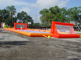 Trung Quốc Durable Soap Soccer Field / 0.55mm Pvc Tarpaulin Inflatable Soccer Field For Sale nhà máy sản xuất