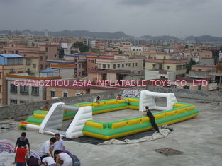 Trung Quốc Giant Commercial Inflatable Soccer Field For Kids With 0.6mm Pvc Tarpaulin nhà máy sản xuất