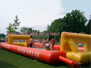 Trung Quốc Adult Hot Welding Inflatable Soap Soccer Field / Interactive Inflatable Water Games nhà máy sản xuất