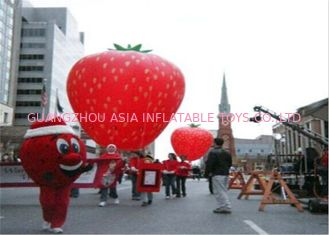 Trung Quốc Advertising Inflatables Strawberry Character Balloon Giant Fruits Flying Ball nhà máy sản xuất