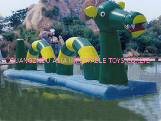 Giant Green Dragon Obstacle Course, Inflatable Water Challenge sports