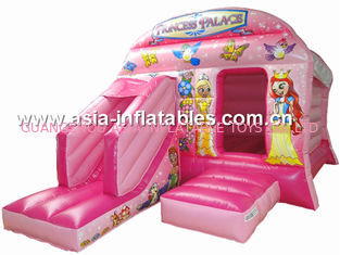 Trung Quốc New inflatable princess pink bouncy castle/Commercial Inflatable combo nhà máy sản xuất