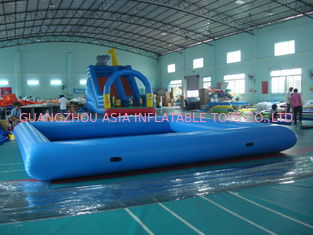Trung Quốc Customize Made Kids Inflatable Pool Water Park with Slide for Fun nhà máy sản xuất