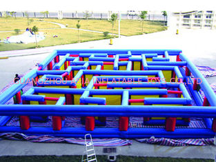 Trung Quốc Outdoor Inflatable Maze Obstacle, Inflatable Maze Crossing Game For Kids nhà máy sản xuất