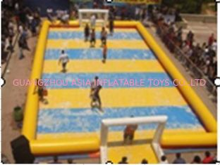 Trung Quốc Children Inflatable Soccer Field / Inflatable Football Pitch For Coaching nhà máy sản xuất