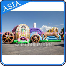 Trung Quốc Outdoor Inflatable Horse Carriage Jumping Castle with Slide For Children nhà máy sản xuất