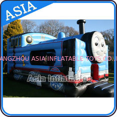 Trung Quốc Inflatable Choo Choo Train Tunnel Moonwalk Games For Kids Party Sports nhà máy sản xuất