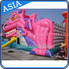 Trung Quốc Lovely Inflatable Pink Snappy Dragon Bouncy Castle For Backyard Games nhà máy sản xuất