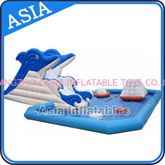 Inflatable Amusement Park , Giant Inflatable Water Park , Swimming Pool Park Equipment