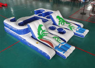 Party Inflatable Floating Island For Beach Vacation , Inflatable Lounge For Lake nhà cung cấp