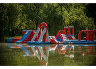 Lake Big Floating Aqua Park / Inflatable Obstacle Course For Business nhà cung cấp