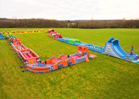 Race Wipeout Course Inflatable Tunnel , Rental 5k Inflatable Obstacle Course nhà cung cấp