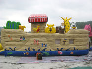 Inflatable Ship Playground With Cartoon Animals For Kids Amusement nhà cung cấp