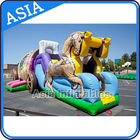 Outdoor Inflatable Horse Carriage Jumping Castle with Slide For Children nhà cung cấp