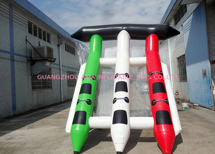 4 - 6 Person Towable Ski Tube / Inflatable Banana Boat Water Toys For Beach nhà cung cấp