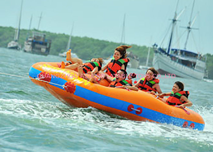 Fun Beach Surfing Water Sport Games / Inflatable Flying Towable Tube nhà cung cấp