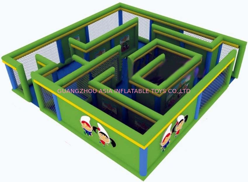 Durable Green Maze Game For Chilren, Inflatable Chilren Park Games nhà cung cấp