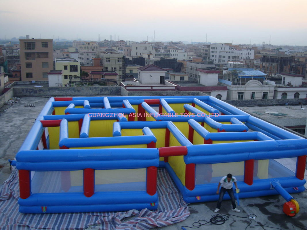 Square Interactive Maze Games, Inflatable Labyrinth Games For Sale nhà cung cấp