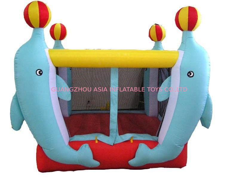 3.5ml Inflatable Amusement Park With Mini Dolphin For Entermainment nhà cung cấp