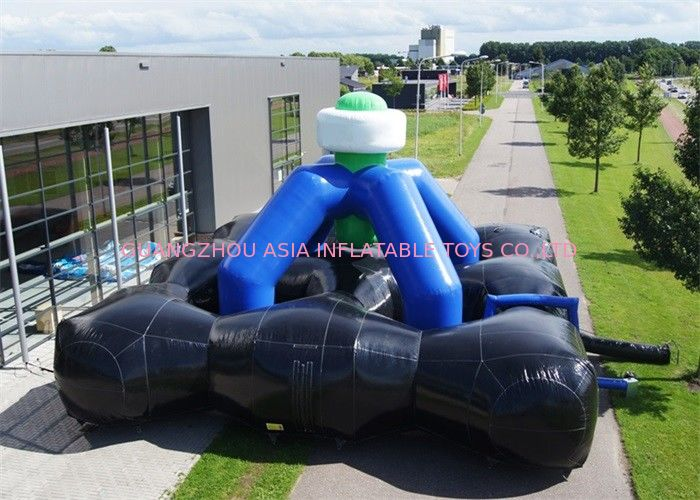 0.55mm PVC Tarpaulin Inflatable Laser Tag Games / Inflatable Laser Shooting Games nhà cung cấp