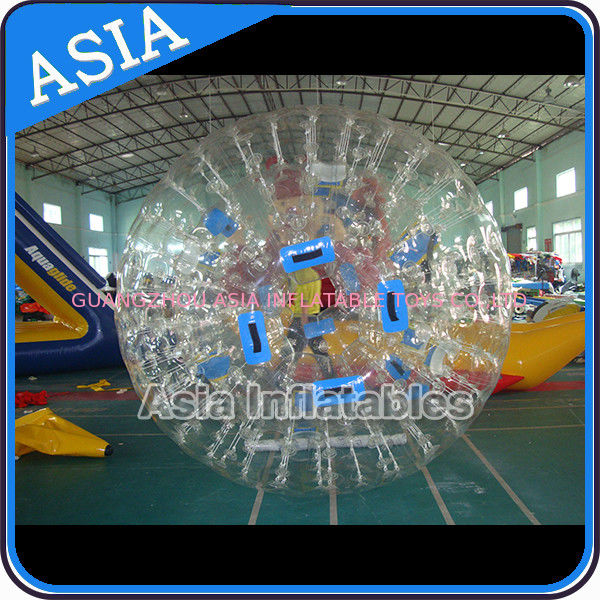 0.8mm Pvc Clear Inflatable Water Zorb Ball With Double Entrance For Adult nhà cung cấp
