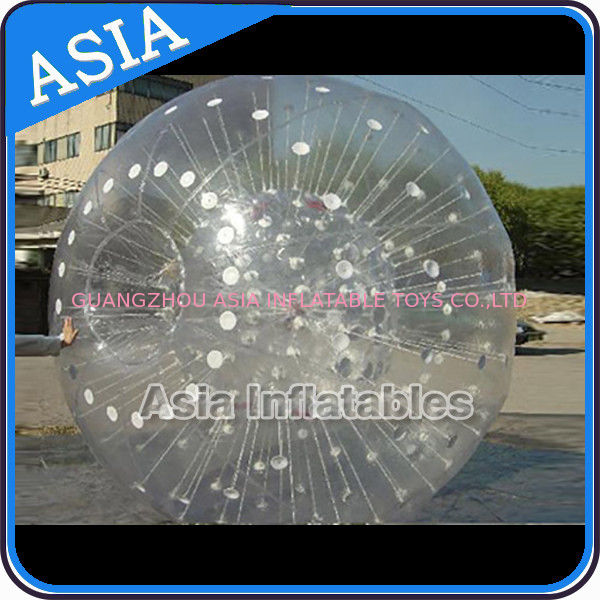 Grass Used One Entrance Zorb Water Ball In 0.8mm Pvc For Rental Business nhà cung cấp