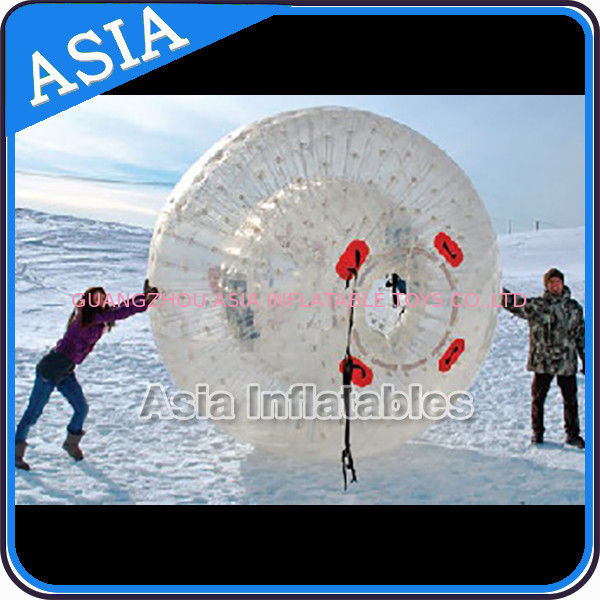 Clear Inflatable Human Hamster Ball ,  Zorb Ball Used On Snow nhà cung cấp
