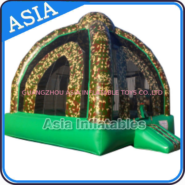 Outdoor Inflatable Marine Camo Bongo Bouncer For Children Party Games nhà cung cấp